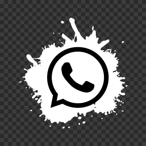 HD Splash White & Black WhatsApp Wa Whats App Icon PNG
