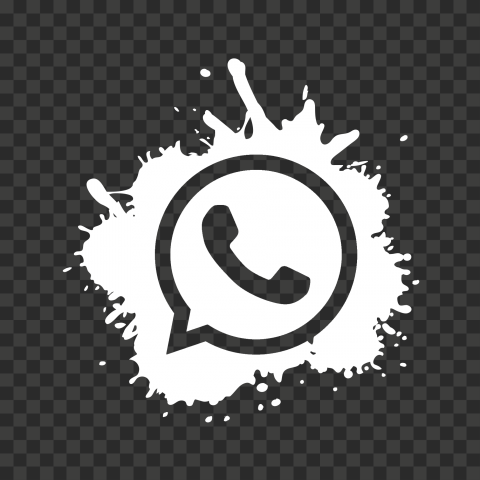 HD Splash White Outline Whatsapp Wa Whats App Icon PNG