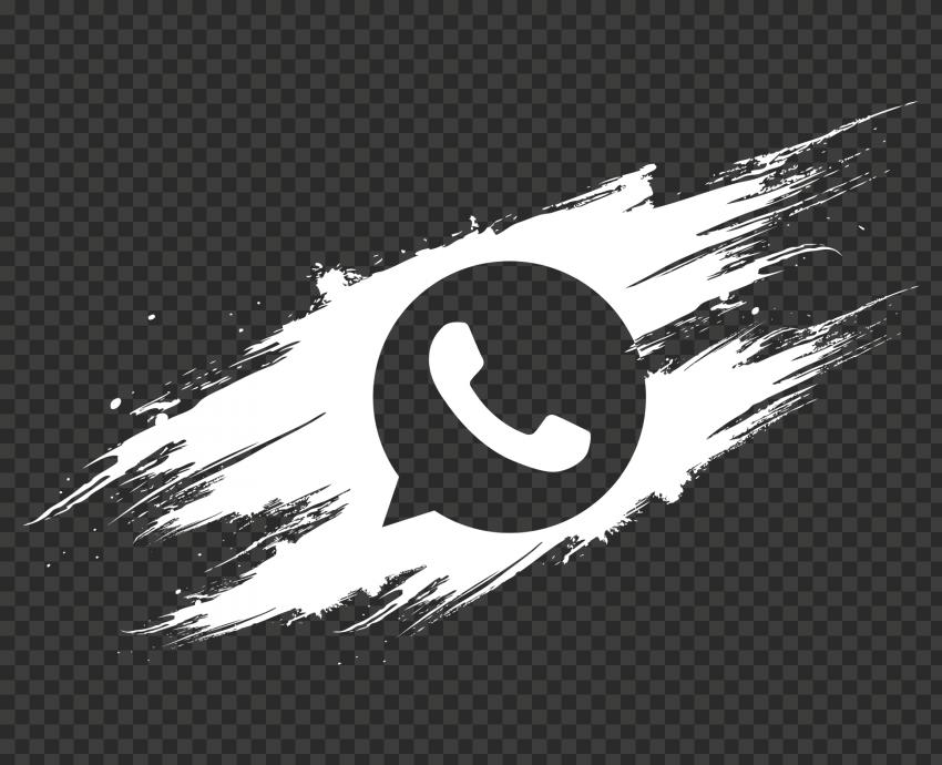 HD White Outline Brush Stroke Whatsapp Wa Whats App Icon PNG