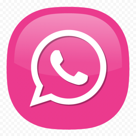 Pink White Whatsapp Wa Illustration Vector Logo Icon Png Citypng