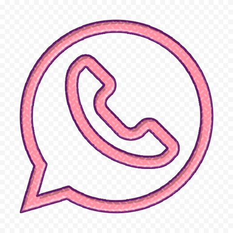 HD Pink Clipart Outline Whatsapp Wa Logo Icon PNG