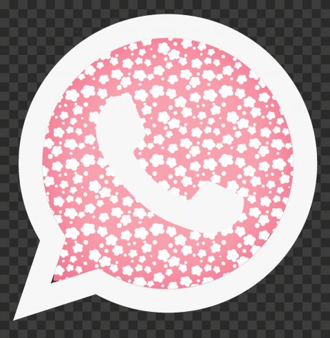 HD Beautiful Pink & White Whatsapp Wa Symbol Logo Icon PNG