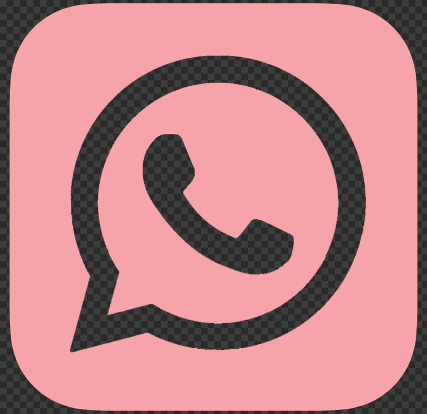 HD Pink Outline Whatsapp Wa Whats App Square Logo Icon PNG