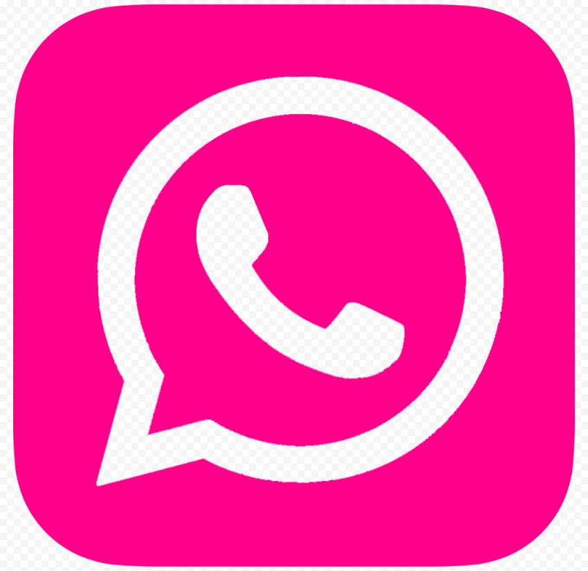 HD Cerise Pink Outline Whatsapp Wa Square Logo Icon PNG