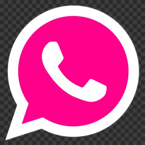 HD Pink & White Wa Whatsapp Logo Icon PNG