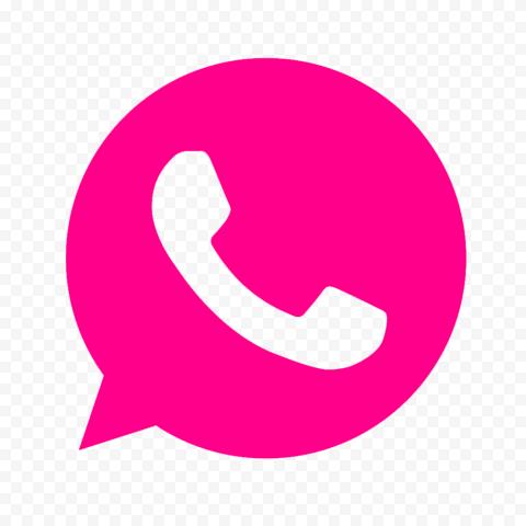 HD Pink Outline Wa Whatsapp App Logo Icon PNG