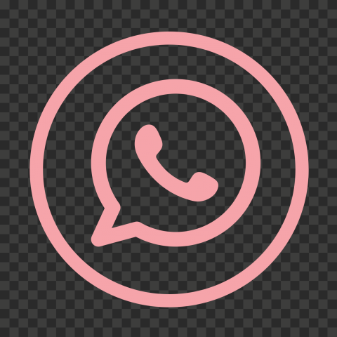 HD Pink Outline Circles Whatsapp Wa Watsup Logo Icon PNG