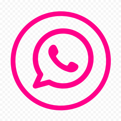 HD Cerise Pink Outline Circles Whatsapp Wa Watsup Logo Icon PNG