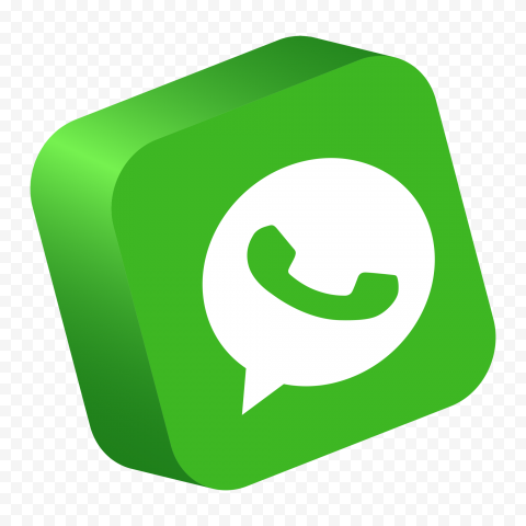 HD 3D WhatsApp Wa Square Button App Logo Icon PNG