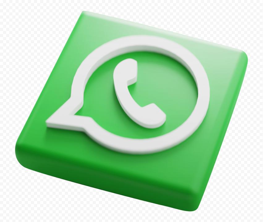 HD Green 3D Design WhatsApp Wa Square Logo Icon PNG