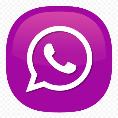Purple & White Whatsapp Wa Illustration Vector Logo Icon PNG
