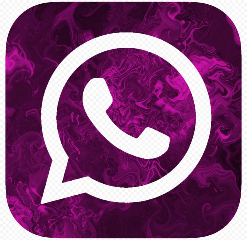 HD Purple Smoke Beautiful Whatsapp Wa Square Logo Icon PNG