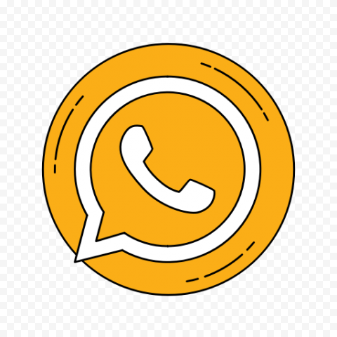 Round Vector WhatsApp Wa Logo Icon PNG