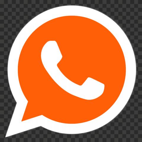 Hd Orange And White Wa Whatsapp Logo Icon Png Citypng