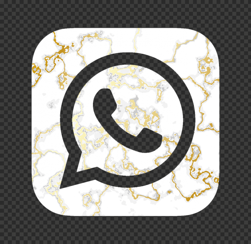 Hd Gold White Marble Aesthetic Whatsapp Logo Icon Png Citypng