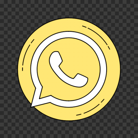 Round Circle Light Yellow Vector Clipart Whatsapp Icon PNG