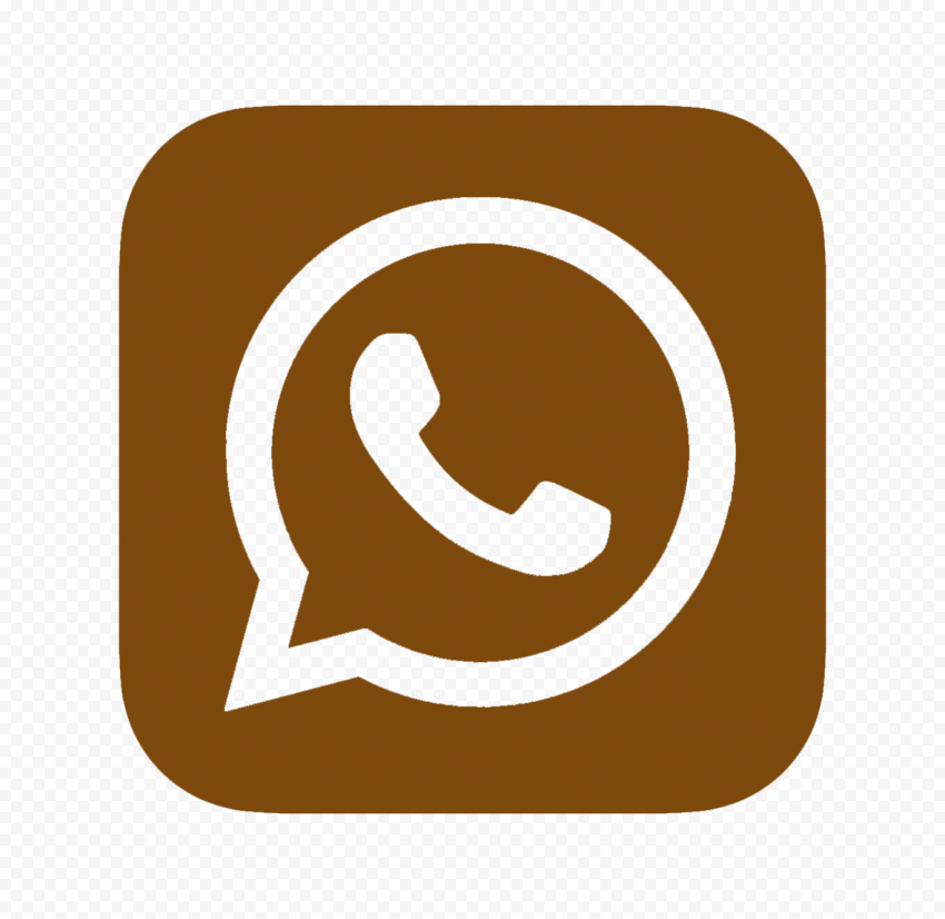 HD Brown Outline Whatsapp Wa Whats App Square Logo Icon PNG