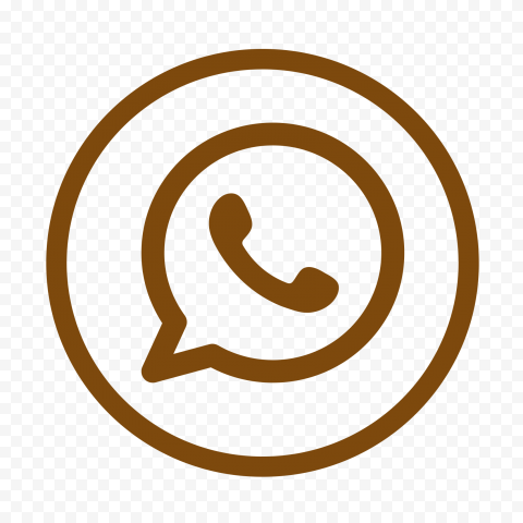 HD Brown Outline Whatsapp Wa Round Circles Logo Icon PNG