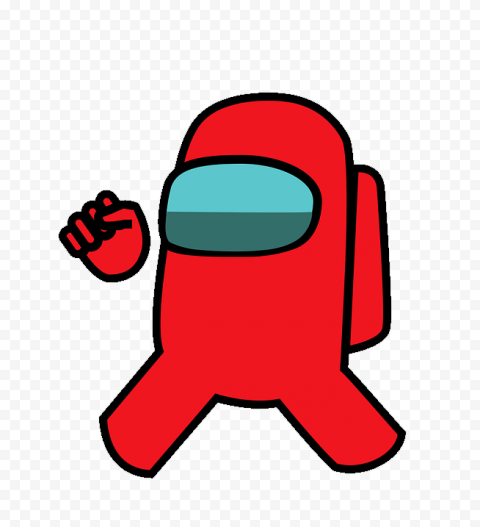 Red Among Us Vector Character PNG