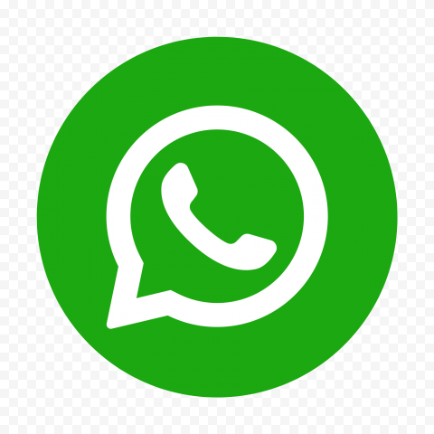 HD Round Shape Contains White Whatsapp Logo Icon PNG