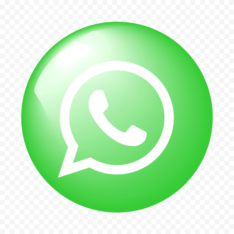 Hd Round Circular Glossy Whatsapp Green Icon Png Citypng