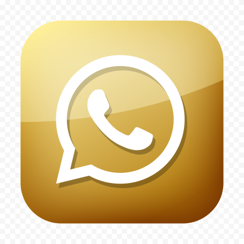 HD Premium Golden Square Whatsapp Icon PNG