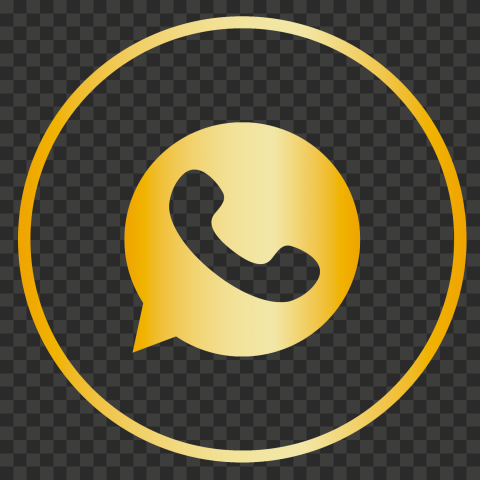 HD Premium Golden Gold Circles Outline Whatsapp Icon PNG