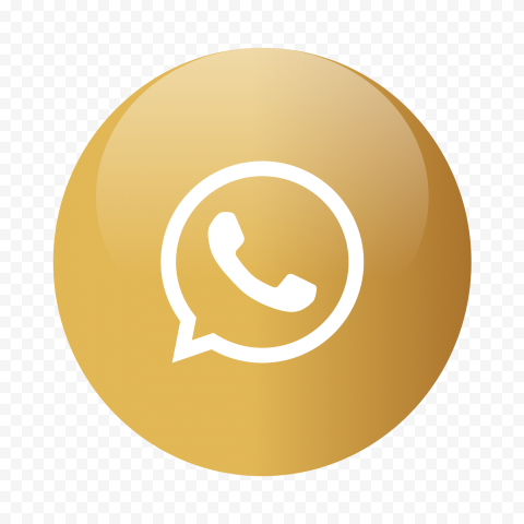 HD Round Golden Gold Whatsapp Icon PNG
