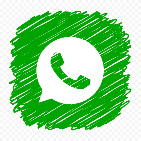HD Beautiful Scribble Style Whatsapp Icon PNG