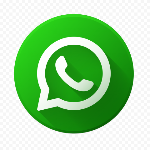 HD Beautiful Round Vector Flat Green Whatsapp Icon PNG