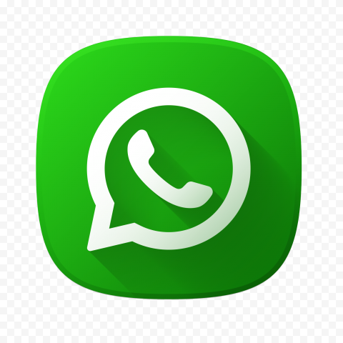 HD Beautiful Square Vector Flat Green Whatsapp Icon PNG