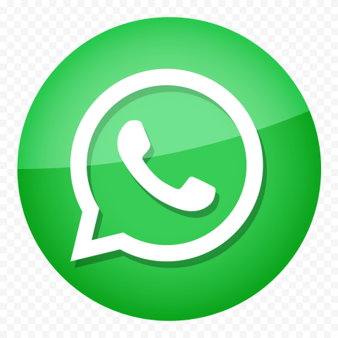 HD Round Green Whatsapp Icon Glossy Effect PNG