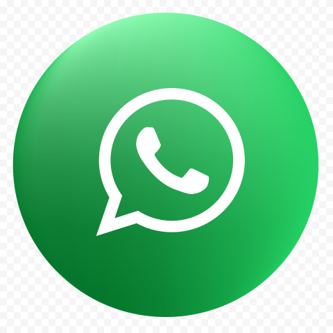 HD Round Circular Green Gradient Whatsapp Wa Icon PNG