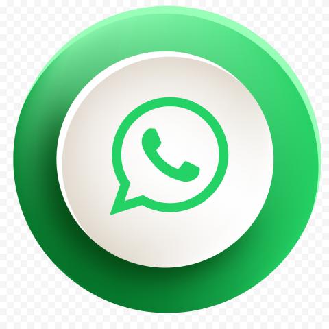 HD Beautiful Round Button Whatsapp Wa Icon PNG