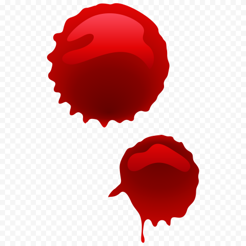 HD Two Drops Of Blood Vector PNG