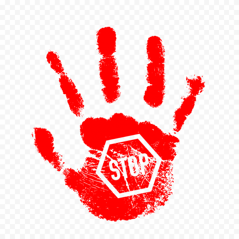 Hd Red Hand Print With Stop Sign Png Citypng From wikimedia commons, the free media repository. hd red hand print with stop sign png