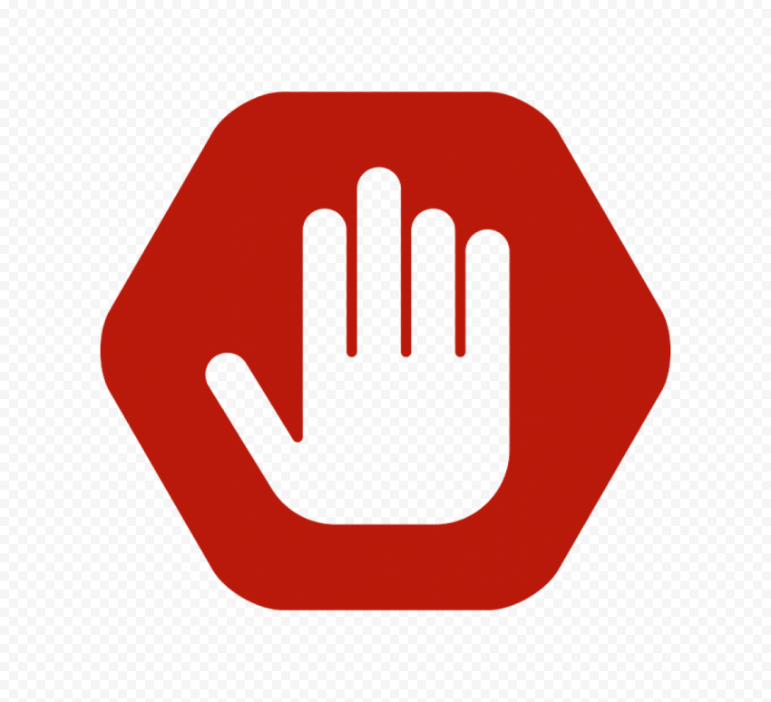 HD Outline Hand Stop Silhouette On Flat Road Stop Sign PNG