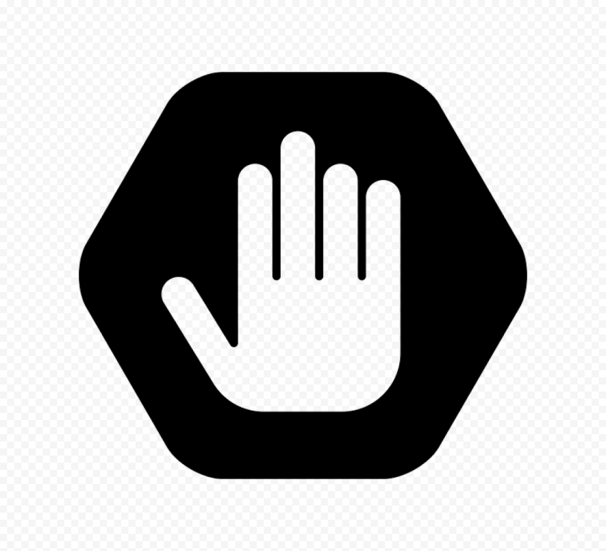 Hd Outline Hand Stop Silhouette On Black Road Stop Sign Png Citypng Hand, stop, hand, wikimedia commons, gesture png. hd outline hand stop silhouette on
