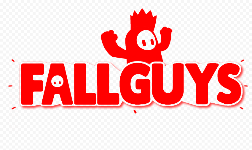 HD Fall Guys Red Logo With Character PNG   Citypng