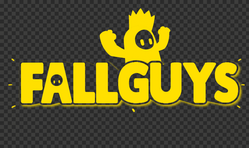 HD Fall Guys Yellow Logo With Character PNG   Citypng