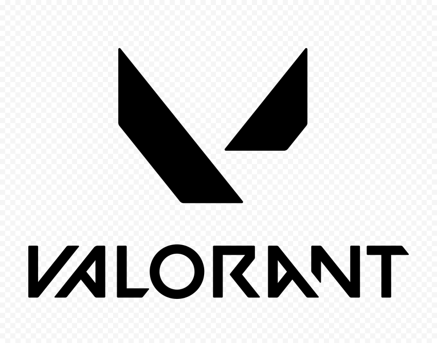 HD Valorant Black Official Logo With Symbol PNG