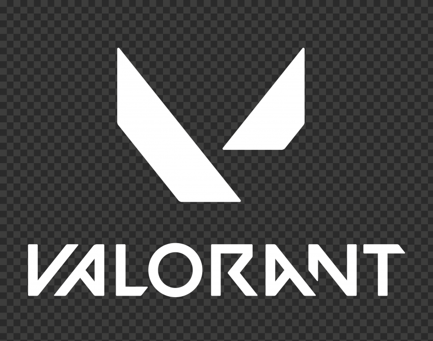 HD Valorant White Official Logo With Symbol PNG