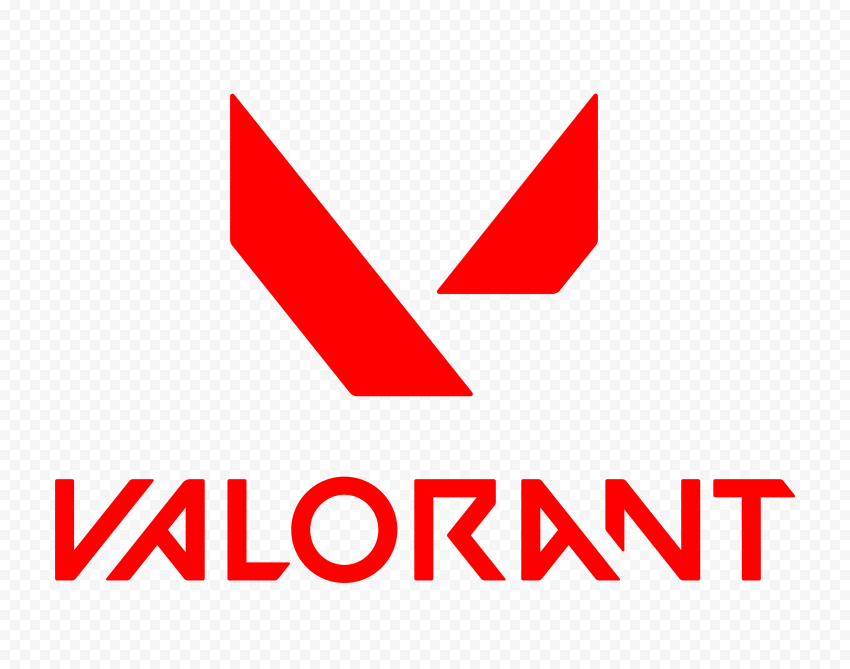 HD Valorant Red Logo With Symbol PNG