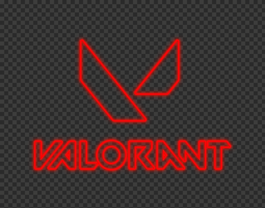 Hd Valorant Red Neon Logo With Symbol Png Citypng