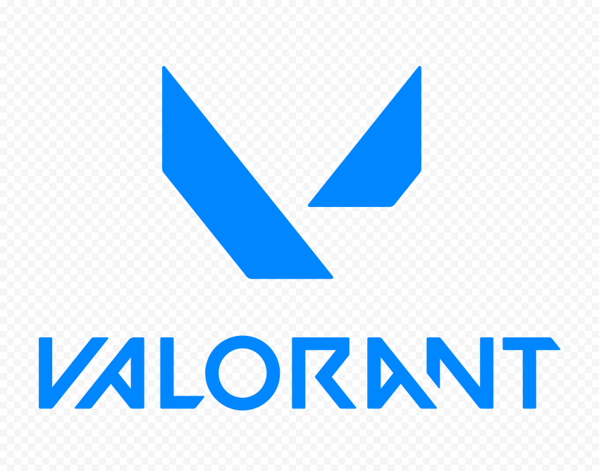 HD Valorant Blue Logo With Symbol PNG