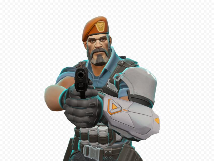 HD Brimstone Valorant Agent Character Hold Gun PNG