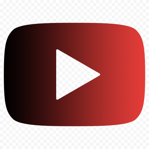 HD Black & Red Outline Youtube YT Logo Symbol Sign Icon PNG