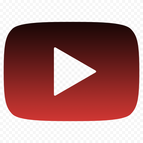 HD Youtube YT Black & Red Outline Logo Symbol Sign Icon PNG