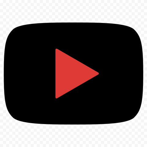 HD Youtube YT Black & Red Logo Symbol Sign Icon PNG