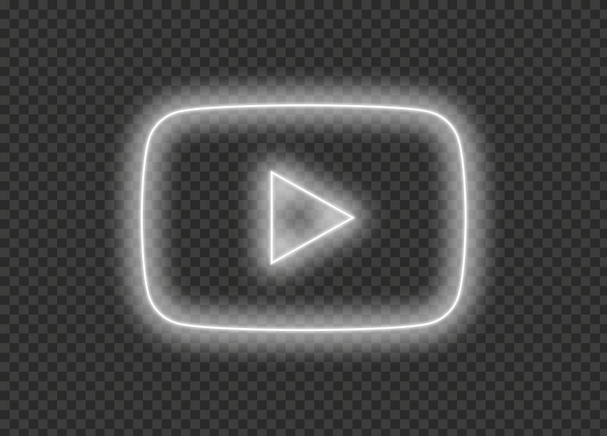HD Aesthetic Youtube YT White Neon Logo Symbol Sign Icon ...